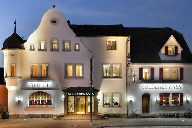 Hotel Goldenes Fass in Rothenburg, Außenansicht