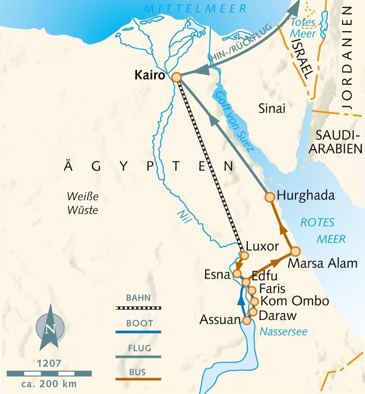 Karte ägypten Nil.Wanderreise Segelkreuzfahrt Durch Alt Und Neu ägypten ägypten