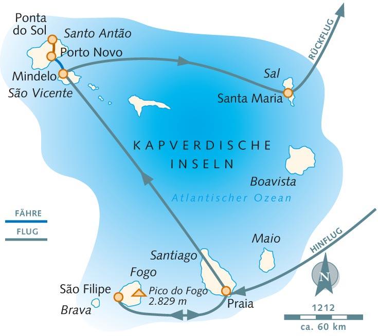 Wo Liegt Kapverden Karte.Wanderreise Cabo Verde Wanderparadiese Im Atlantik Kapverdische