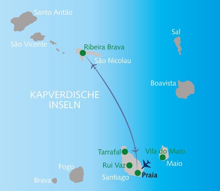 Wo Liegt Kapverden Karte.Wanderreise Bom Dia Santiago Und São Nicolau Kapverdische Inseln