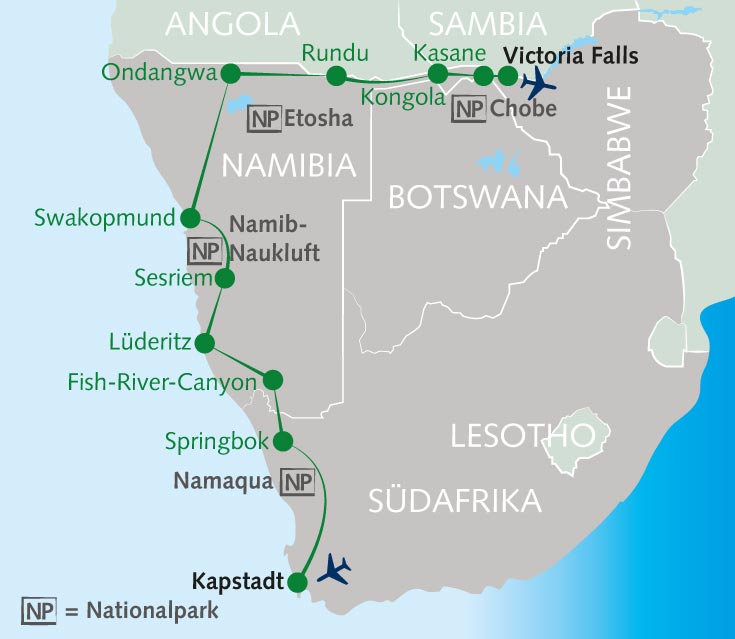 Südafrika Karte Pdf.Wanderreise Schatzkiste Südliches Afrika Südafrika Namibia