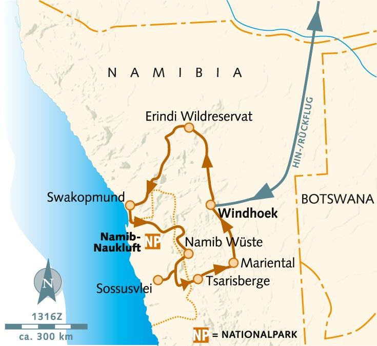 Namib Wüste Karte.Wanderreise Neujahr Mal Namibisch Namibia Wikinger Reisen