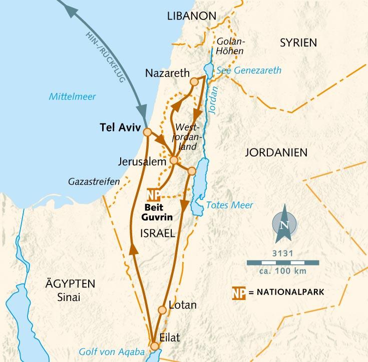 Jerusalem Karte Heute.Wanderreise Wo Alles Begann Israel Wikinger Reisen