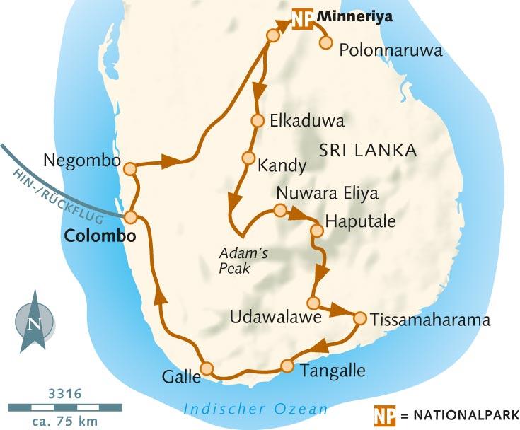 Sri Lanka Karte Zum Drucken.Wanderreise Perle Des Indischen Ozeans Sri Lanka Wikinger Reisen