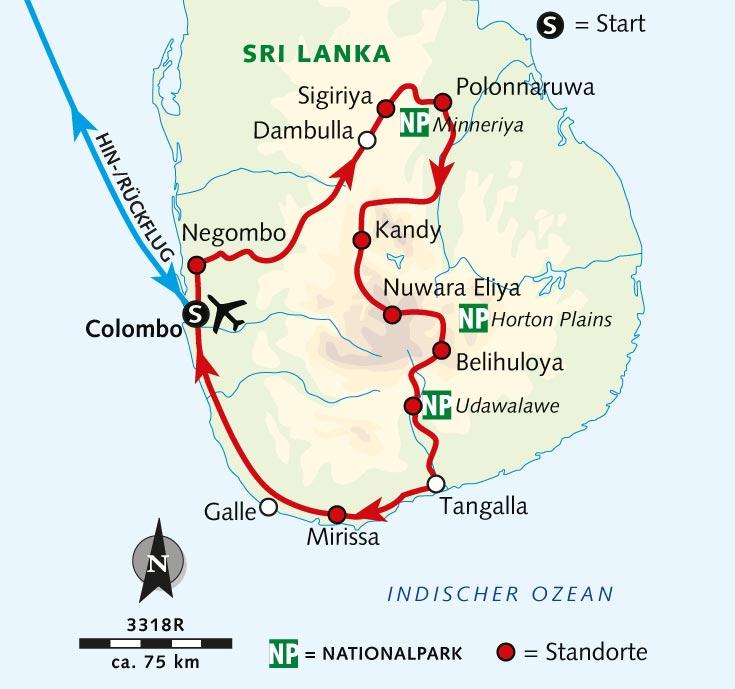 Sri Lanka Karte Zum Drucken.Radreise Sri Lanka Tropisches Paradies Voller Kontraste Sri