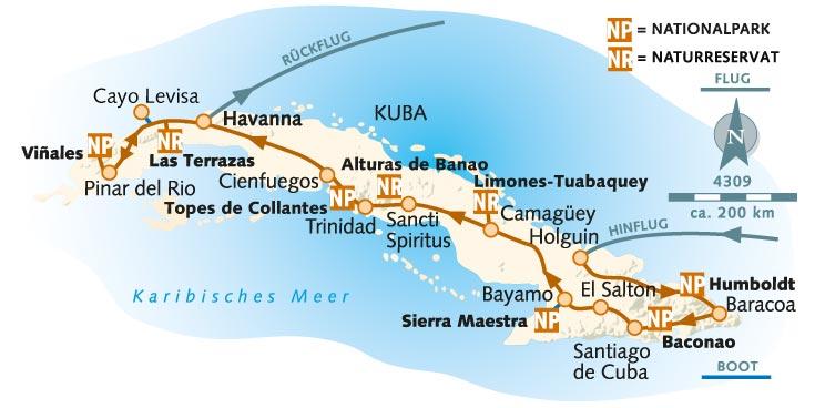 Havanna Kuba Karte.Wanderreise Kuba Total Kuba Wikinger Reisen