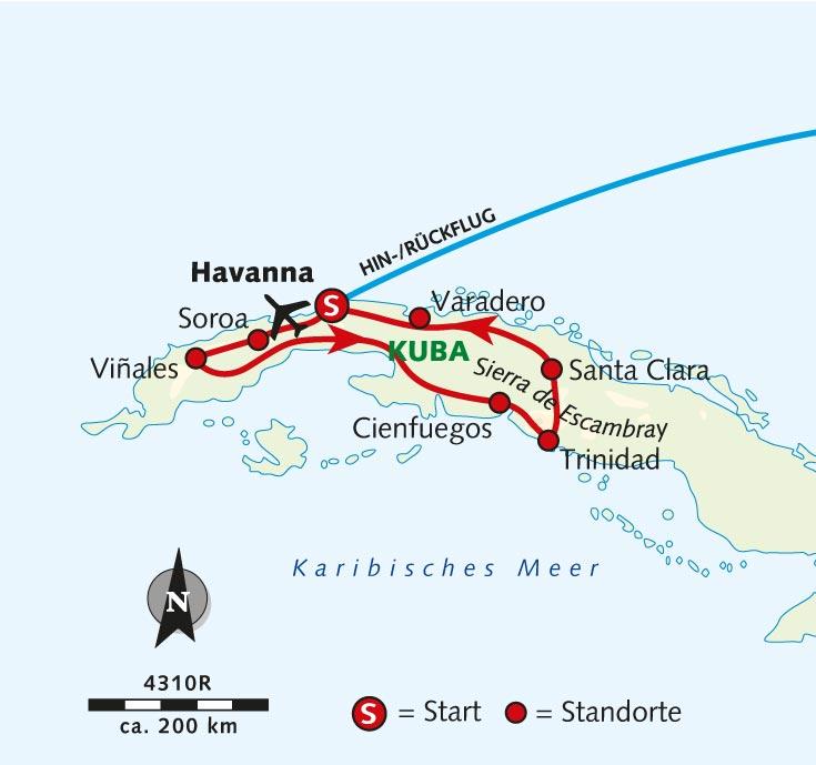 Karte Kuba Varadero.Radreise Perle Der Karibik Kuba Wikinger Reisen