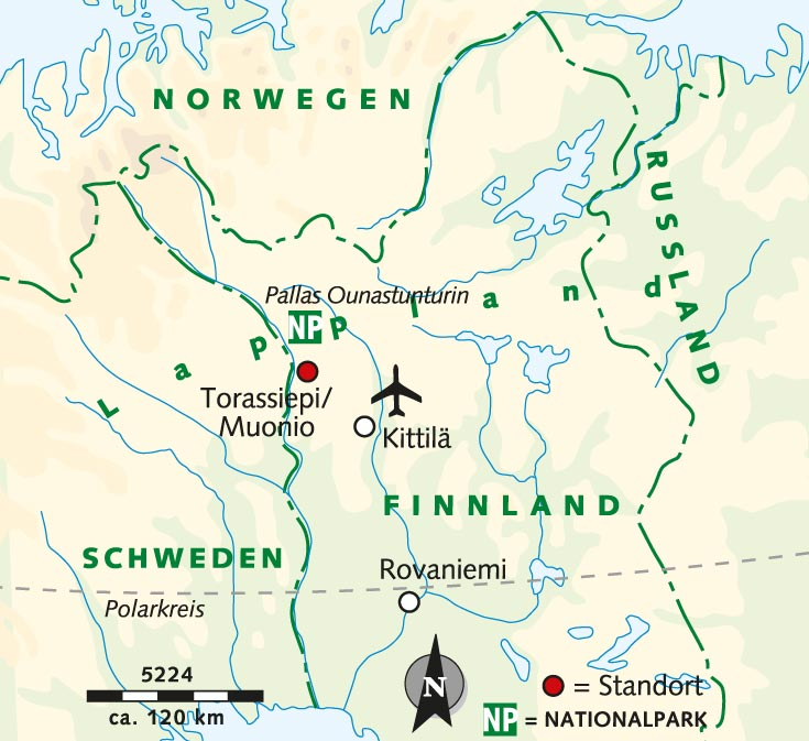 Lappland Karte.Wanderreise Wandern Mehr In Finnisch Lappland Finnland Lappland