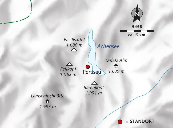 Side T303274rkei Karte.Achensee Berge Karte