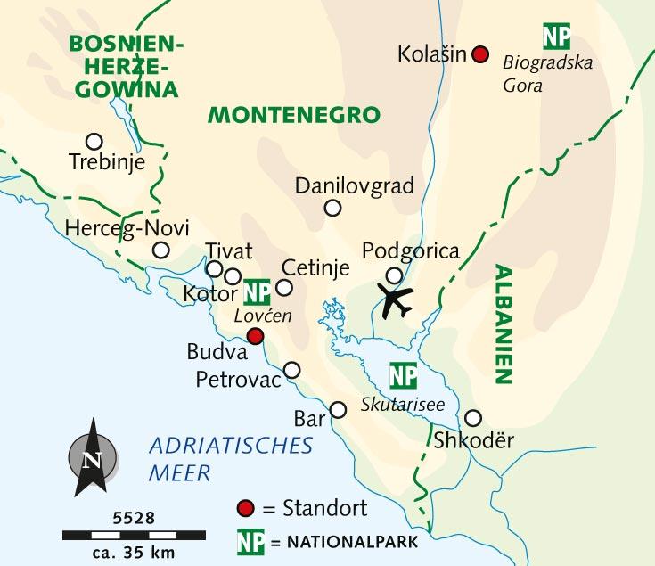 Kotor Montenegro Karte.Wanderreise Montenegro Juwel Der Adria Montenegro