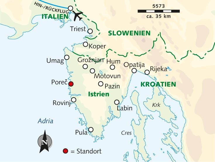 Kroatien Karte Istrien.Wanderreise Das Grüne Herz Des Mittelmeers Kroatien Istrien