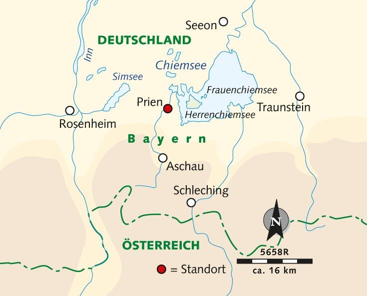 Chiemsee Karte Pdf.Radreise Chiemgau Bayerns Seenparadies Deutschland Chiemgau