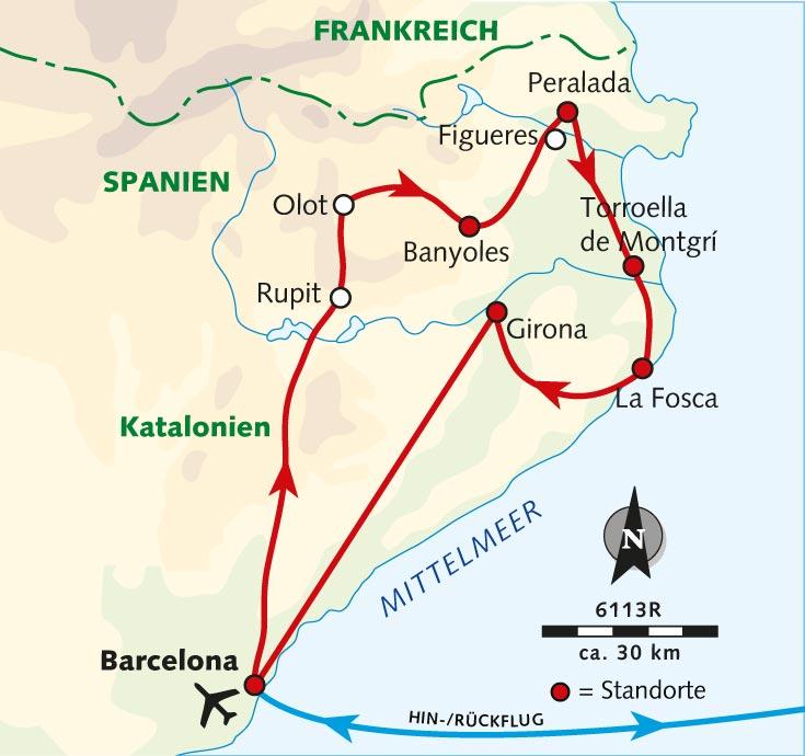 Spanien Katalonien Karte.Radreise Unbekanntes Katalonien Per E Bike Spanien Katalonien