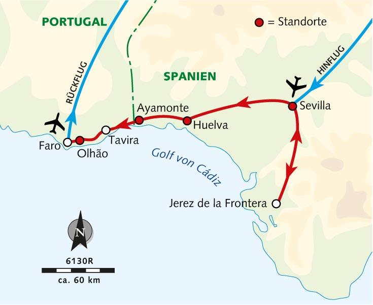 Radreise Vom Spanischen Andalusien An Die Portugiesische Algarve