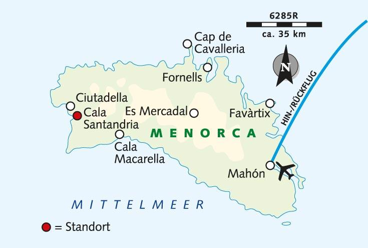 Insel Menorca Karte.Radreise Menorca Die Unbekannte Schone Spanien Menorca