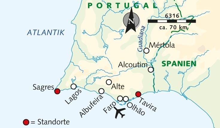 Flughafen Algarve Karte.Wanderreise Die Ost Und Westküste Der Algarve Kombiniert