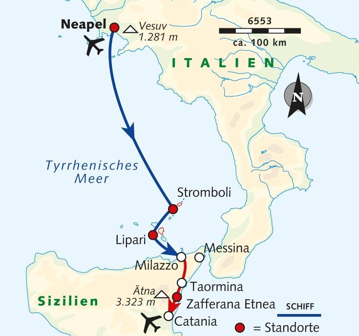 Sizilien Karte ätna.Wanderreise Italiens Vulkane Zwischen Feuer Und Wasser
