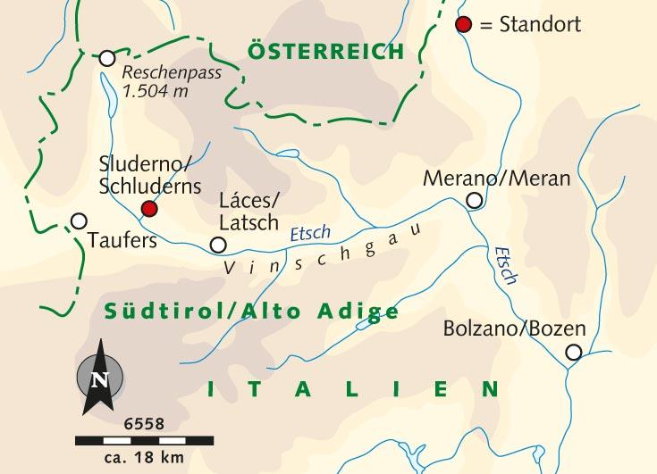 Sudtirol Karte Osterreich Italien.Wanderreise Vinschgau Ein Wandergebiet Fur Geniesser