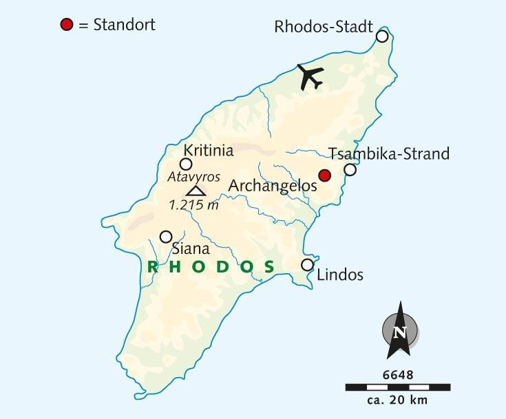 Strand Karte Rhodos.Wanderreise Let S Go Rhodos Wartet Auf Dich Griechenland