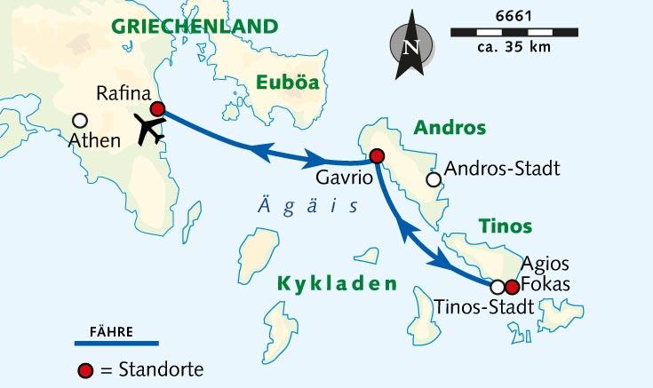 Kykladen Karte.Wanderreise Geheimtipps Der Kykladen Andros Und Tinos