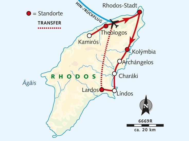 Rhodos Karte Flughafen.Radreise Rhodos Sonneninsel Der Dodekanes Griechenland Rhodos