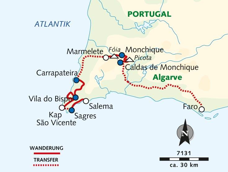 Flughafen Algarve Karte.Individuelle Wanderreise Auf Der Via Algarviana Zum Meer Portugal