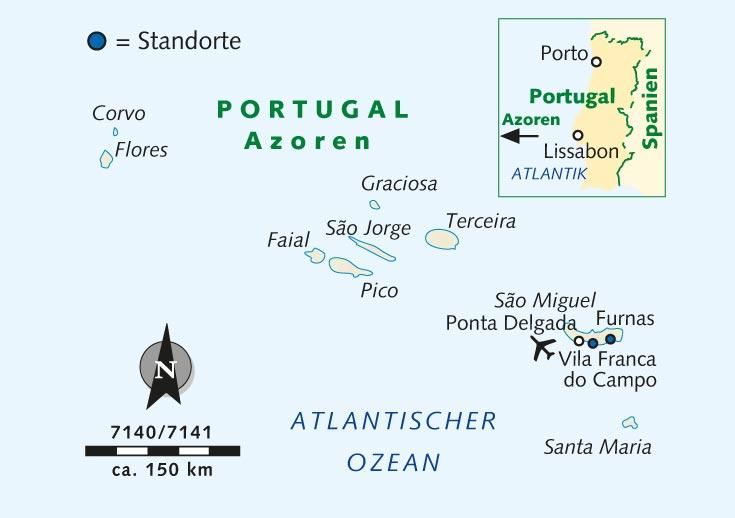 Azoren Karte Portugal.Individuelle Wanderreise São Miguel Die Grüne Azoreninsel