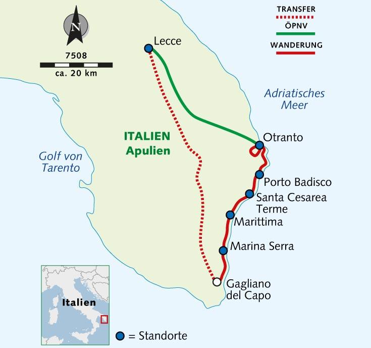 Apulien Karte Italien.Individuelle Wanderreise Apulien Ursprünglich Authentisch Wild