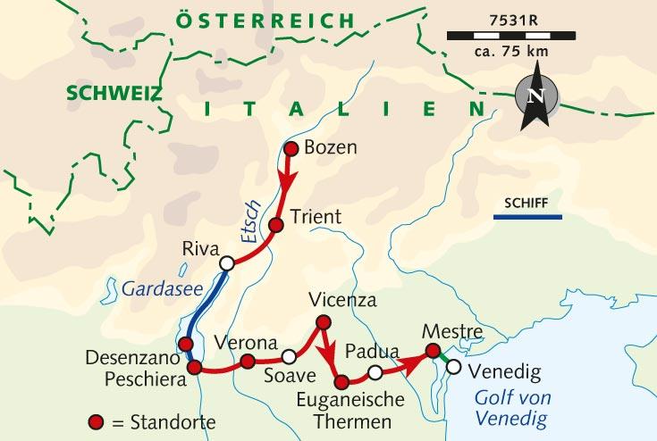 Individuelle Radreise Von Bozen Nach Venedig Italien Sudtirol