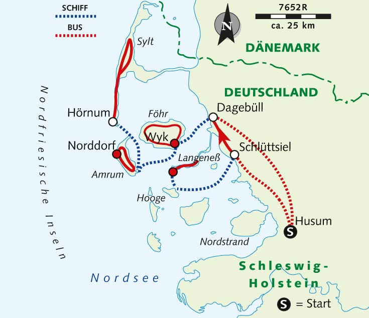 Individuelle Radreise Wasser Weite Die Nordfriesischen Inseln