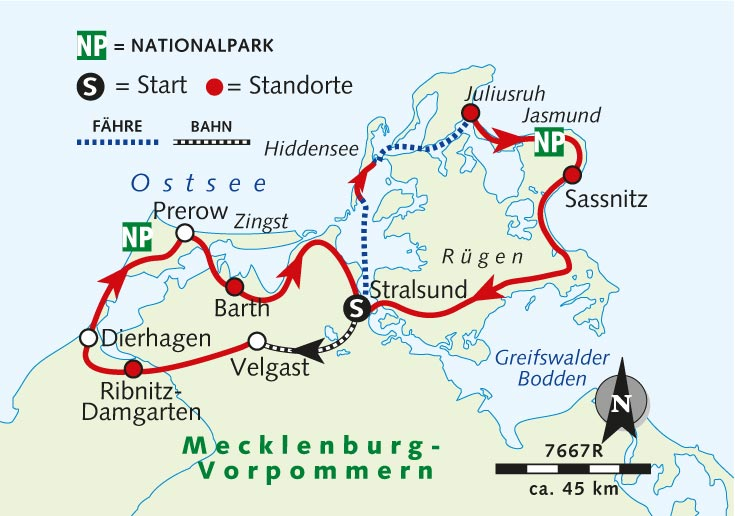 Individuelle Radreise Rugen Darss Und Fischland Deutschland