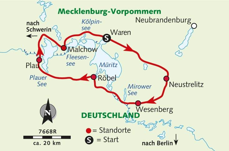 Individuelle Radreise Die Mecklenburgische Seenplatte