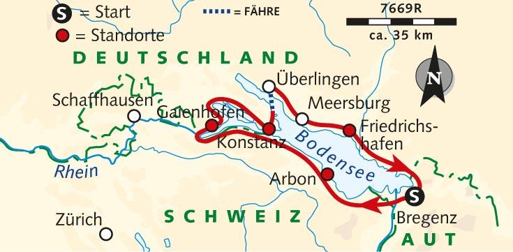 Individuelle Radreise 3 Lander Tour Um Den Bodensee Bodensee