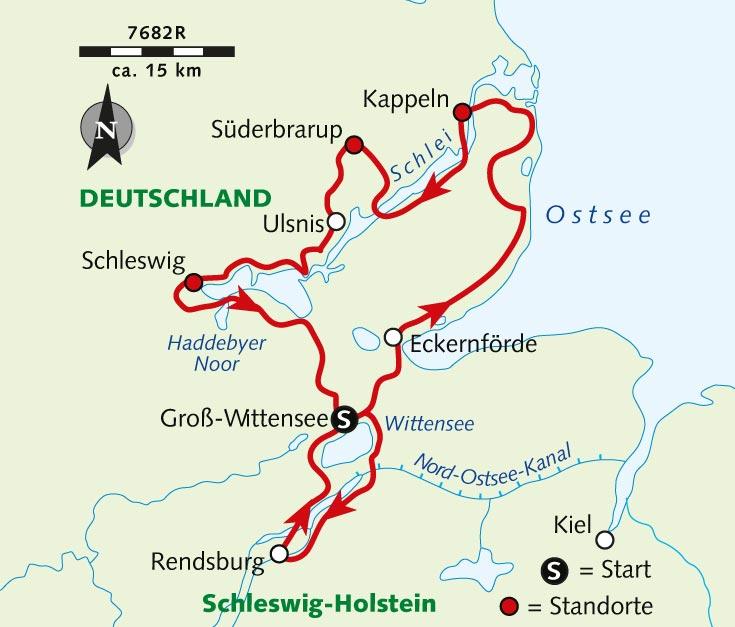Haithabu Karte.Individuelle Radreise Nordisch Frisch Der Ostseefjord Schlei