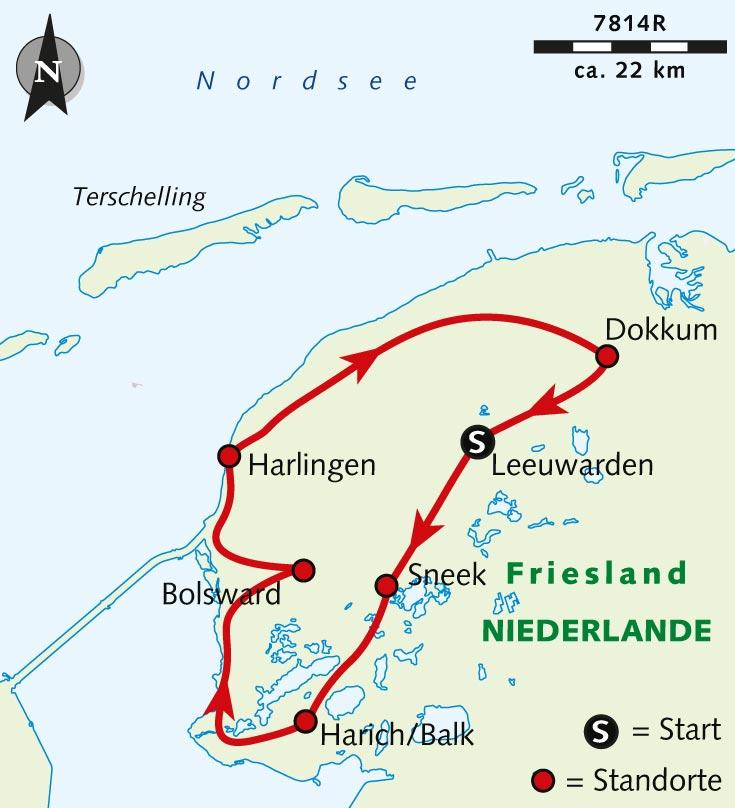 Individuelle Radreise Weites Friesland Radeln Bis Zum Horizont