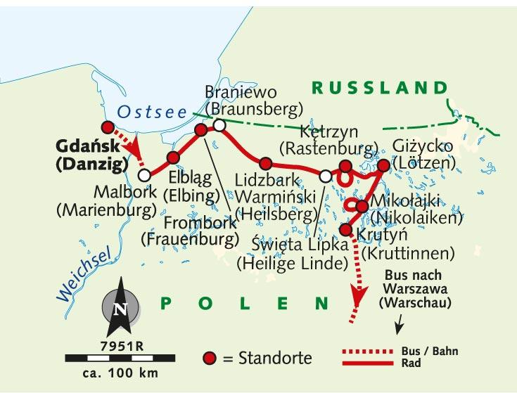 Individuelle Radreise Danzig Marienburg Und Masuren Polen