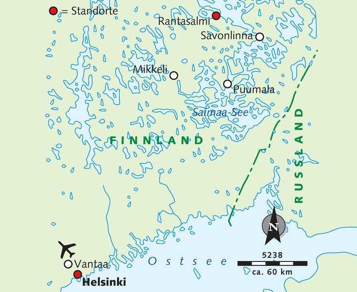 Karte der Reise 5238
