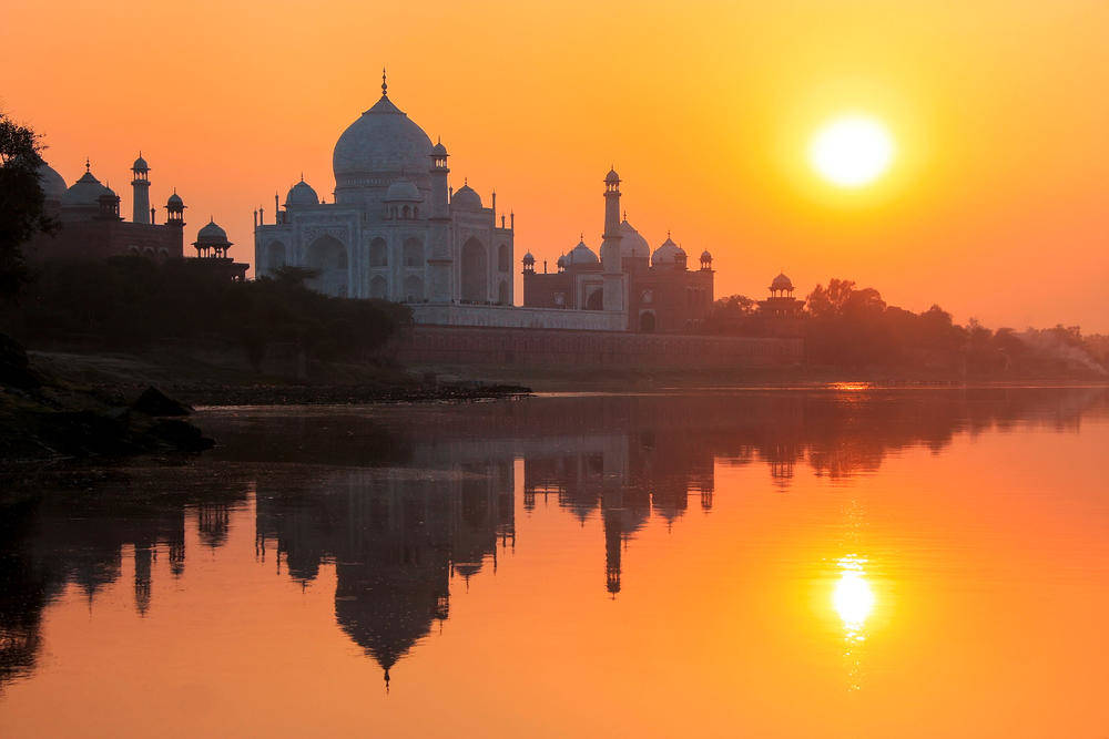 Sunset am Taj Mahal