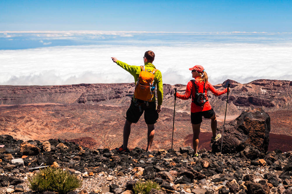 Wanderer im Teide-Nationalpark