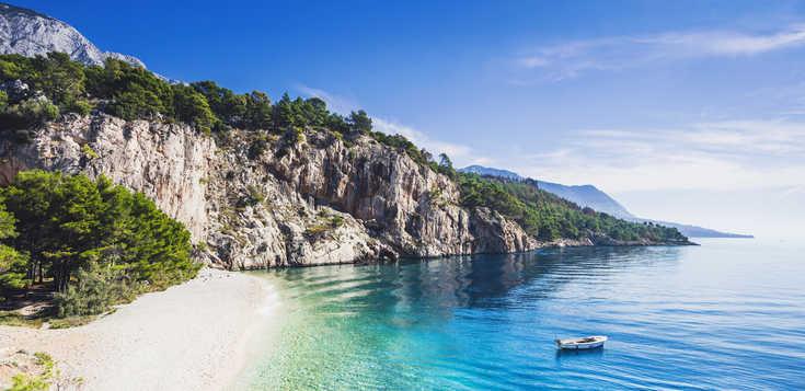 An Kroatiens schönster Küste