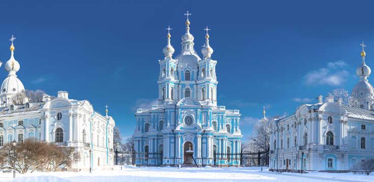 Russisches Wintermärchen in St. Petersburg