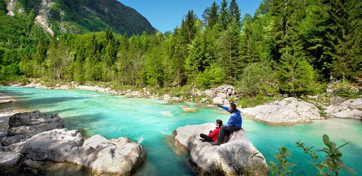 Saphirblau und Smaragdgrün - Wandern an der Soča