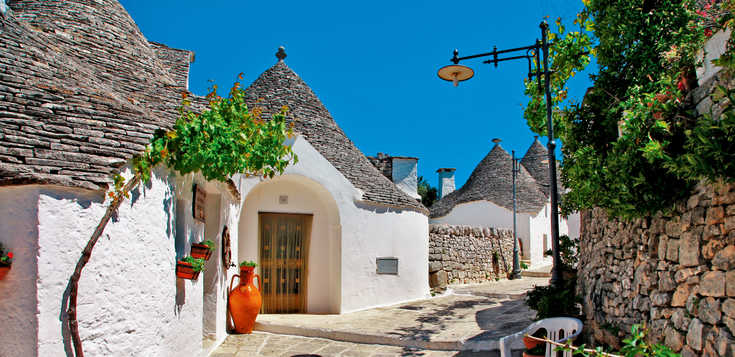 Italien: Ursprüngliches Apulien - von den Trulli zum Ionischen Meer