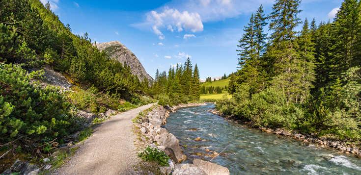 Österreich - Deutschland - Lechweg: von der Quelle bis zum Fall Herbst-Variante ohne Übernachtung in Lech