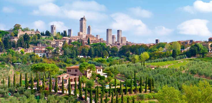 Italien: Toskana – Chianti, Hügellandschaft und Zypressenalleen
