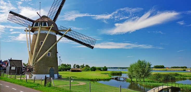 Südliches Holland mit Rad und Schiff