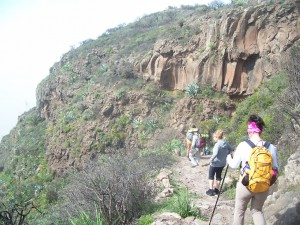 Felsformation oberhalb vom Valle Gran Rey