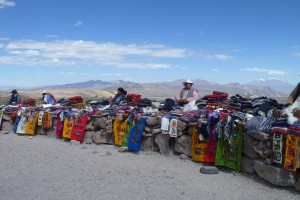 Verkaufsstände am Patapampapass