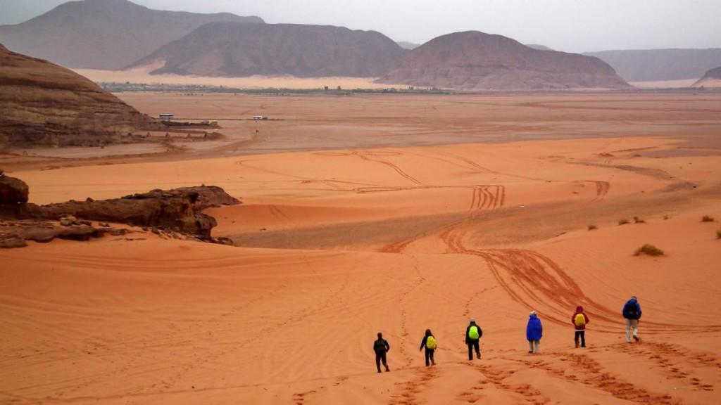 In Wadi Rum bei der Silvesterreise Jordanien