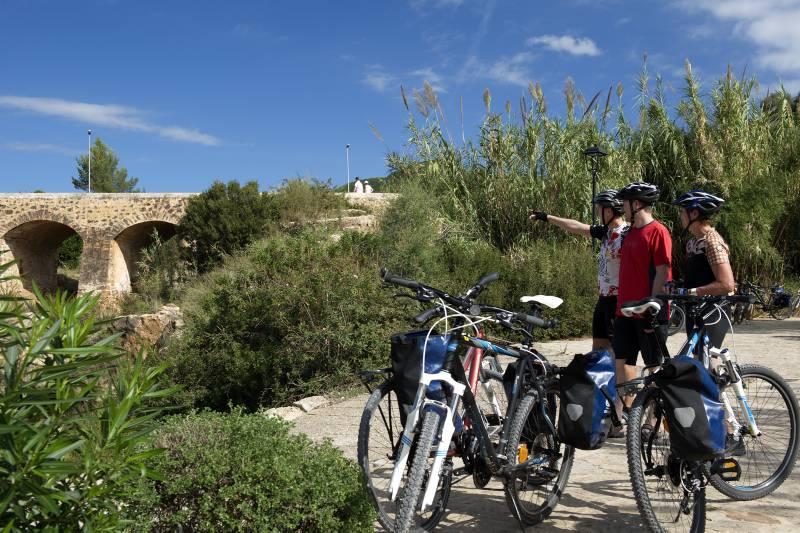 Radgruppe bei Santa Eularia